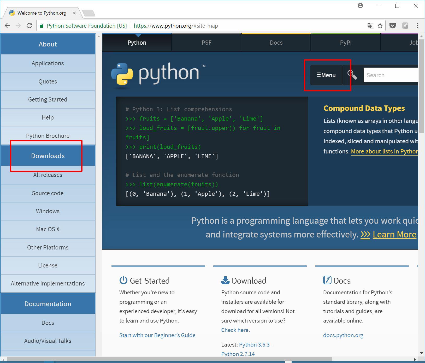 Pythonサイト